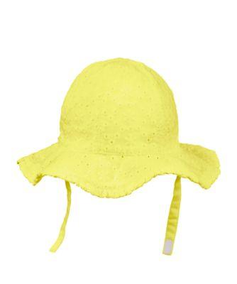 yellow broderie sun hat