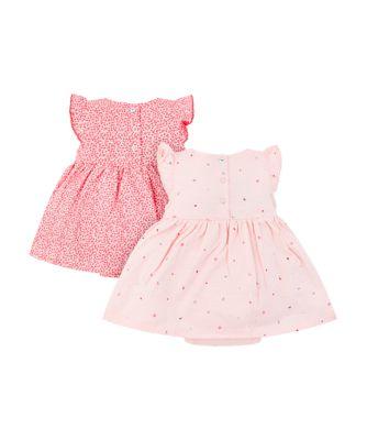 floral and seaside romper dresses - 2 pack
