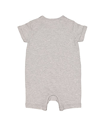 grey handsome little fella romper