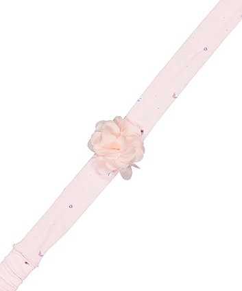 pink floral corsage headband