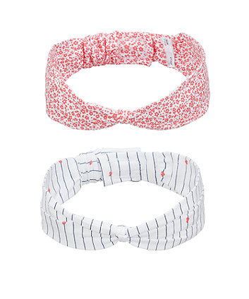 stripe and floral headbands - 2 pack