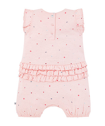 pink seaside romper