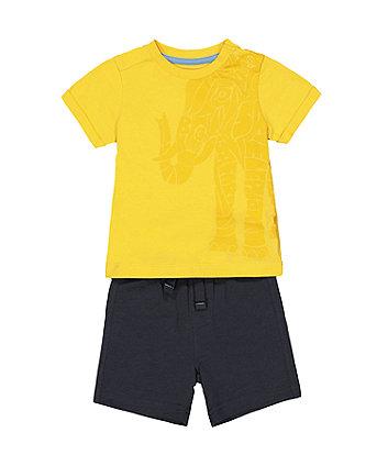 elephant t-shirt and shorts set
