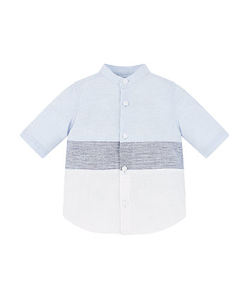 blue block stripe shirt