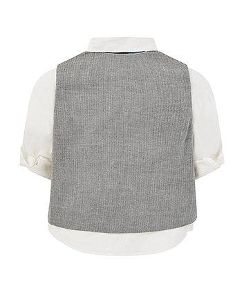 shirt, waistcoat and bow tie set