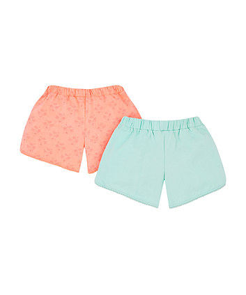 neon palm tree shorts - 2 pack