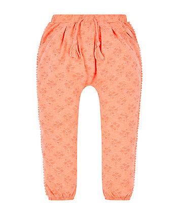 coral harem trousers
