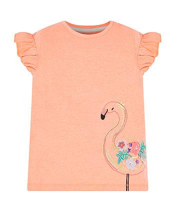 coral flamingo t-shirt