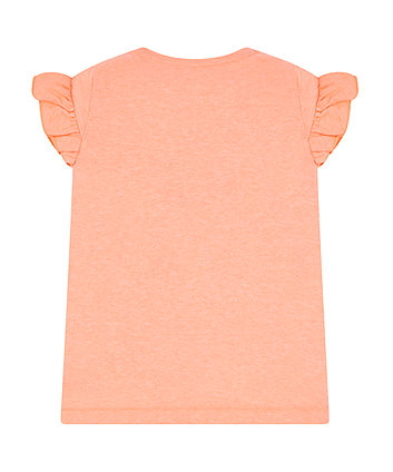 coral flamingo t-shirt