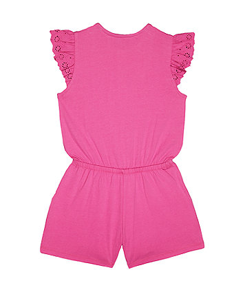 pink broderie playsuit