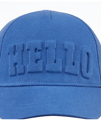 blue hello cap