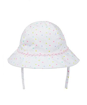white neon spot sun hat