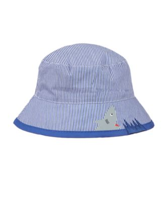 blue shark bite stripe fisherman sun hat