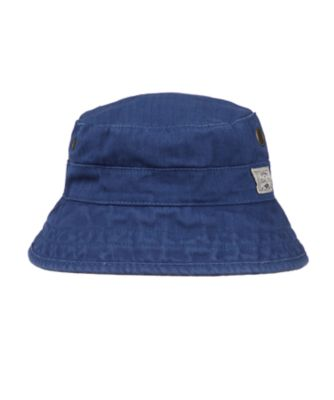 navy eyelet fisherman hat