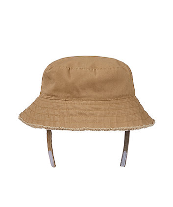 tan frayed edge fisherman sun hat