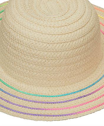 rainbow straw hat