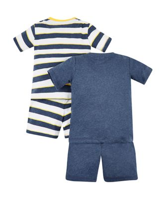 monkey and stripe pyjamas – 2 pack
