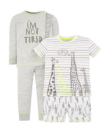 giraffe pyjamas – 2 pack