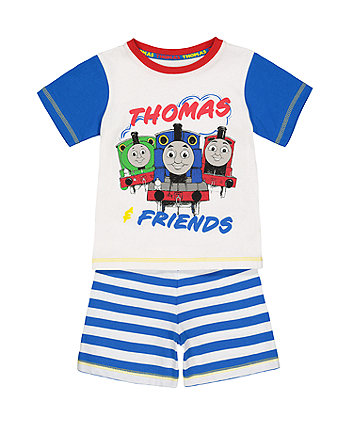thomas the tank engine shortie pyjamas