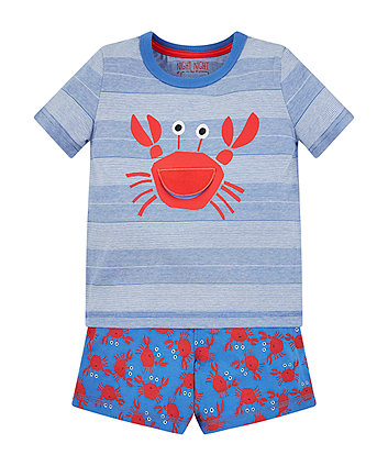crab shortie pyjamas
