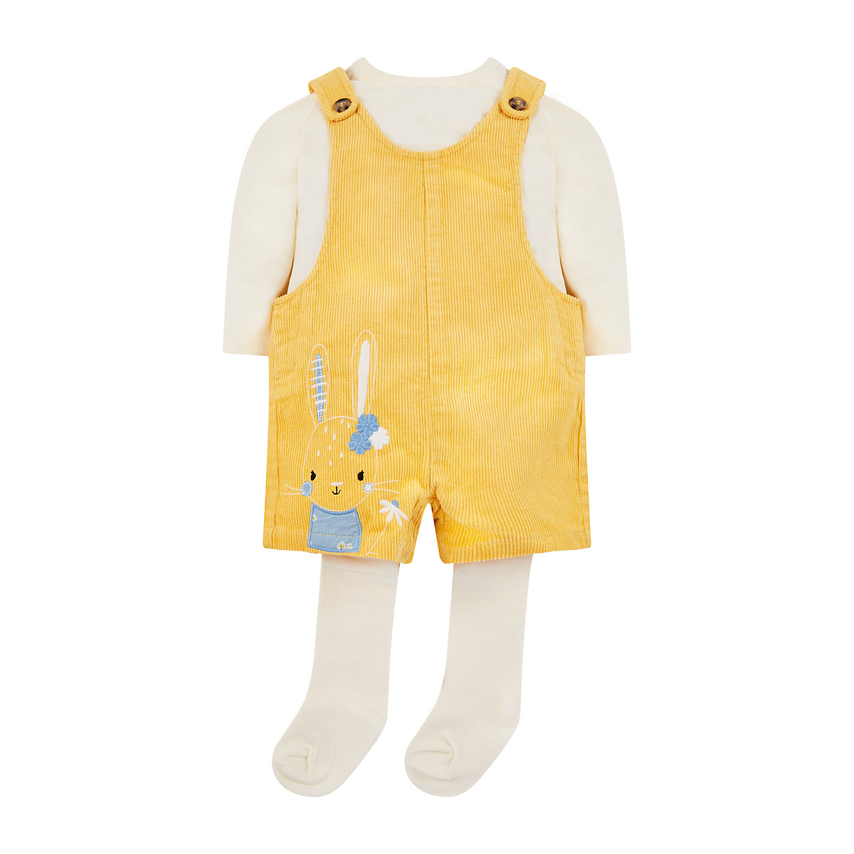 Yellow Bibshorts. T Shirt And Tights Set