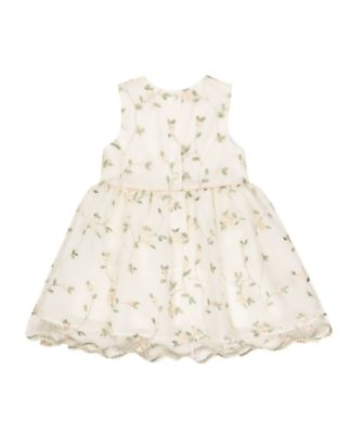 embroidered flower occasion dress