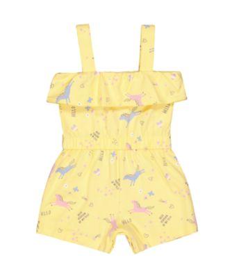 yellow unicorn playsuit