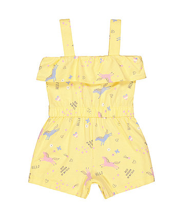 yellow unicorn playsuit