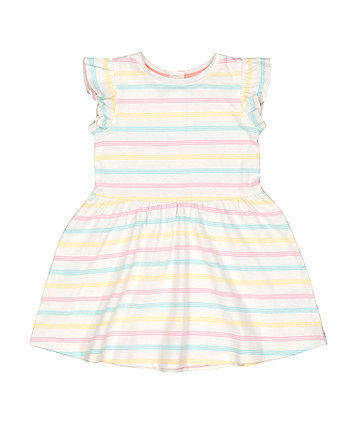 pastel striped dress