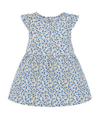 blue ditsy dress