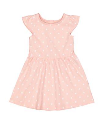 pink spot dress