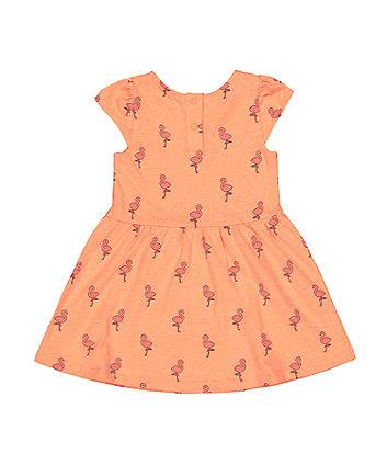 neon flamingo waisted dress