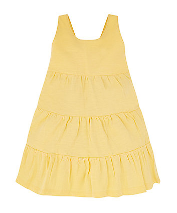 yellow tiered dress