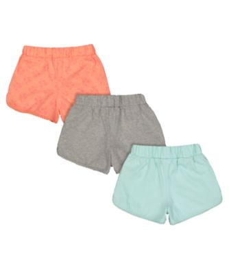neon palm tree shorts - 3 pack