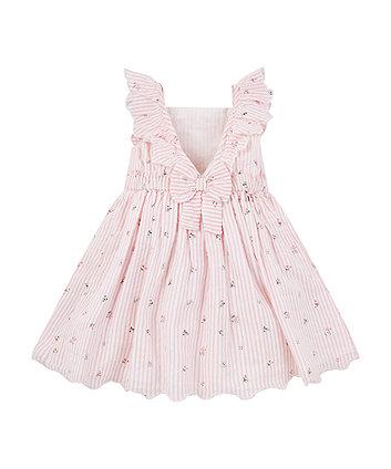 pink striped floral dress