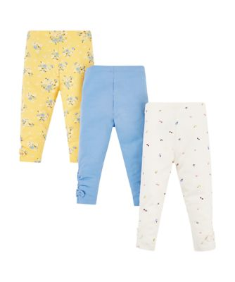 ditsy floral, heart and blue leggings – 3 pack