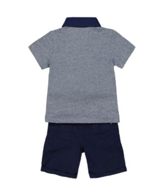 polo shirt and shorts set
