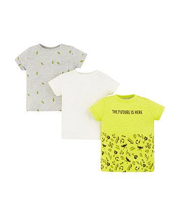 gamer, thunderbolt and white t-shirts - 3 pack