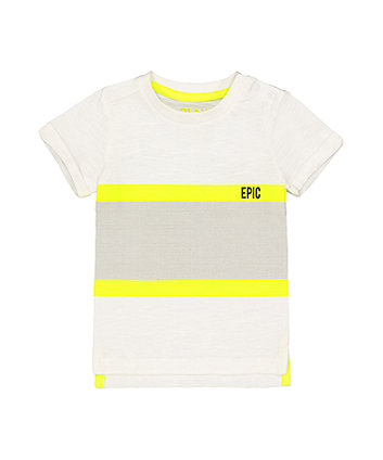 neon stripe epic t-shirt