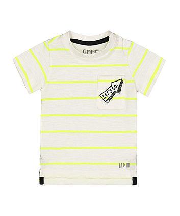 lets go arrow stripe t-shirt