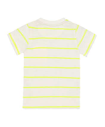 lets go arrow stripe t-shirt