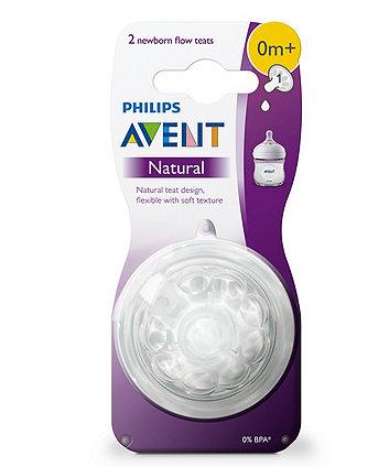 Philips Avent SCF041/27 natural teat (newborn flow) 0m+, 2 teats