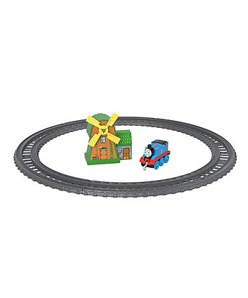 Fisher-Price Thomas & Friends TrackMaster - Thomas & The Windmill Metal Train Engine Playset