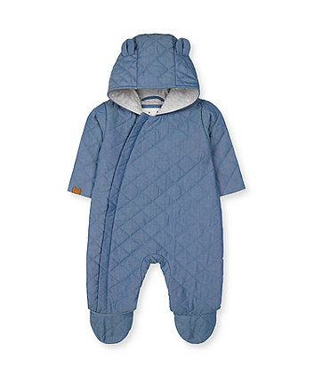 Blue Quilted Pramsuit