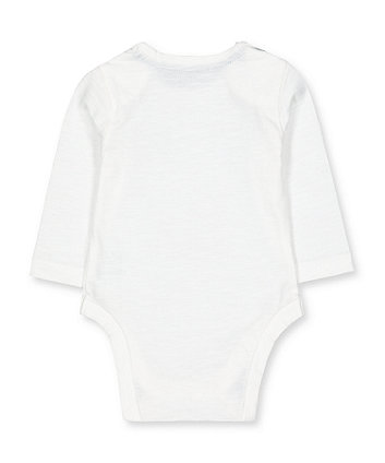 white mummy bears bodysuit