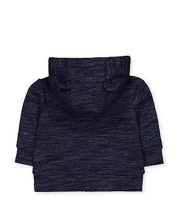 blue teddy bear zip-through hoodie