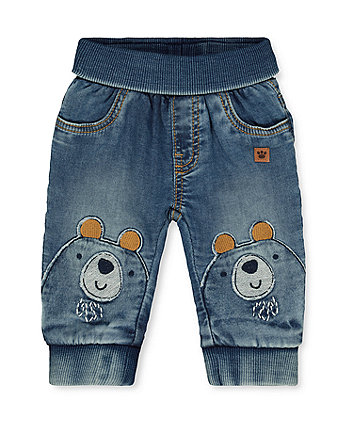 denim bear joggers