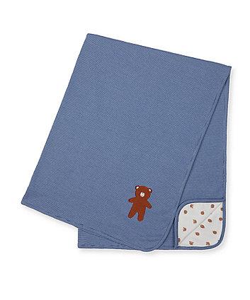 blue teddy bear shawl