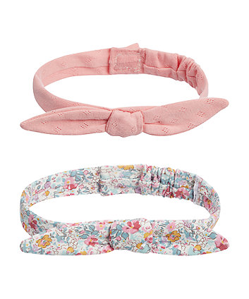 floral bow headbands - 2 pack