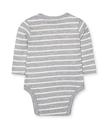 grey stripe dinosaur bodysuit